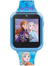 Accutime Kid's Frozen 2 Blue Silicone Strap Touchscreen Smart Watch 46x41mm