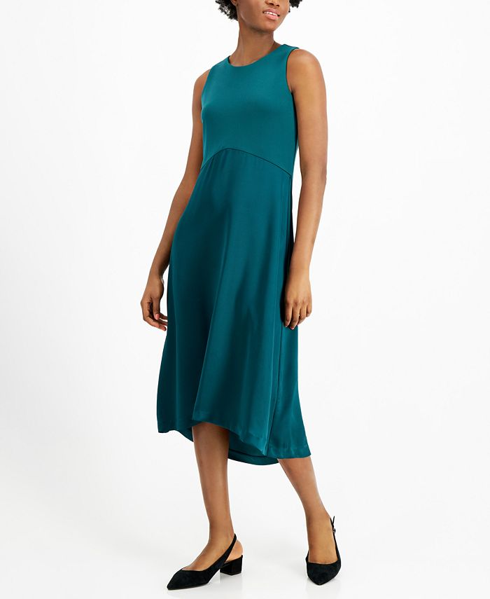 Alfani - Mixed-Media Midi Dress