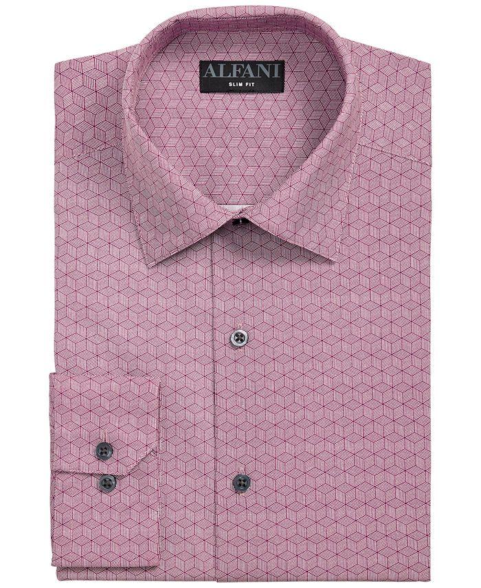 Alfani - Men's Slim-Fit Performance Stretch Striped Box Dress Shirt