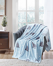 """CLOSEOUT! Cozy Plush 50"""" x 70"""" Throw, Created for Macy's"""