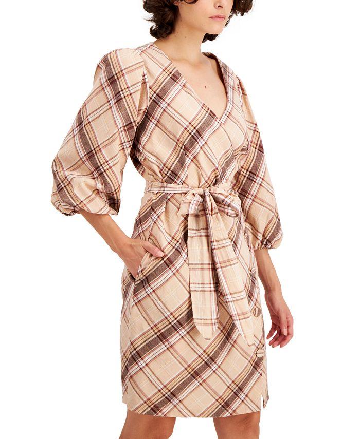 Inc International Concepts Inc Puff Sleeve Wrap Dress Created For Macy S Reviews Dresses Women Macy S
