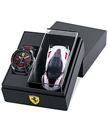 Ferrari Men's XX Kers Black Nylon Strap Watch 44mm Gift Set