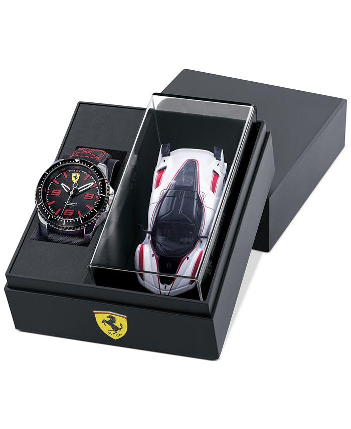 Ferrari - Men's XX Kers Black Nylon Strap Watch 44mm