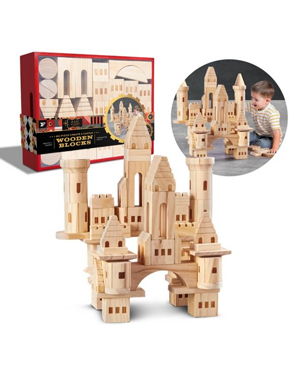 FAO Schwarz Toy Wood Blocks 60pc