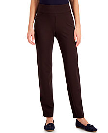 Charter Club Pull-On Ponté-Knit Pants, Created for Macy's