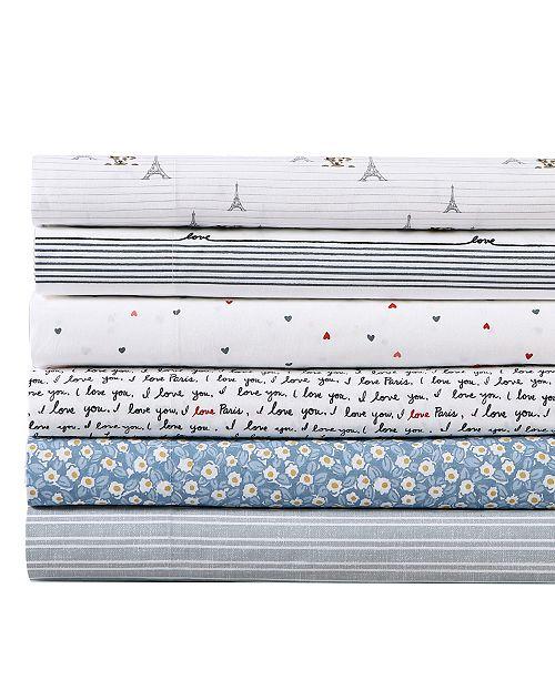 Ed Ellen Degeneres Linen Texture Stripe Percale King Sheet Set Reviews Sheets Pillowcases Bed Bath Macy S
