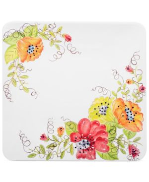 Laurie Gates Set of 4 Capistrano Melamine Dinner Plates