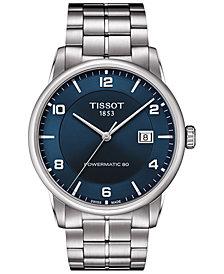 Tissot Men's Swiss Automatic Luxury Powermatic 80 Stainless Steel Bracelet Watch 41mm