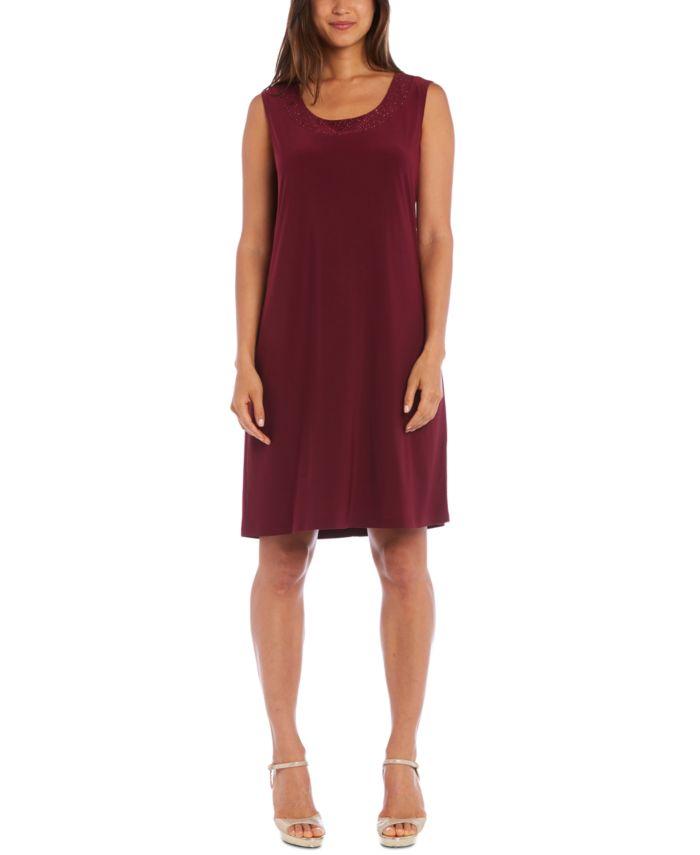 R & M Richards 2-Pc. Embellished Mesh Jacket & Dress Set & Reviews - Dresses - Women - Macy's