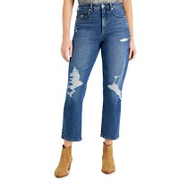 Deals on Style & Co Ripped Mom Jeans