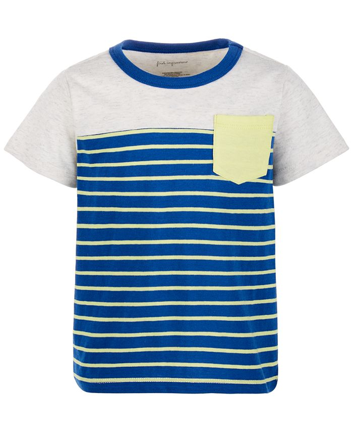 First Impressions - Baby Boys Stripe Pieced Pocket T-Shirt
