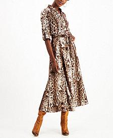 INC Animal-Print Shirtdress, Created for Macy's