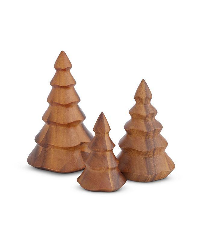 Nambe Deck The Halls Wooden Christmas Tree Set