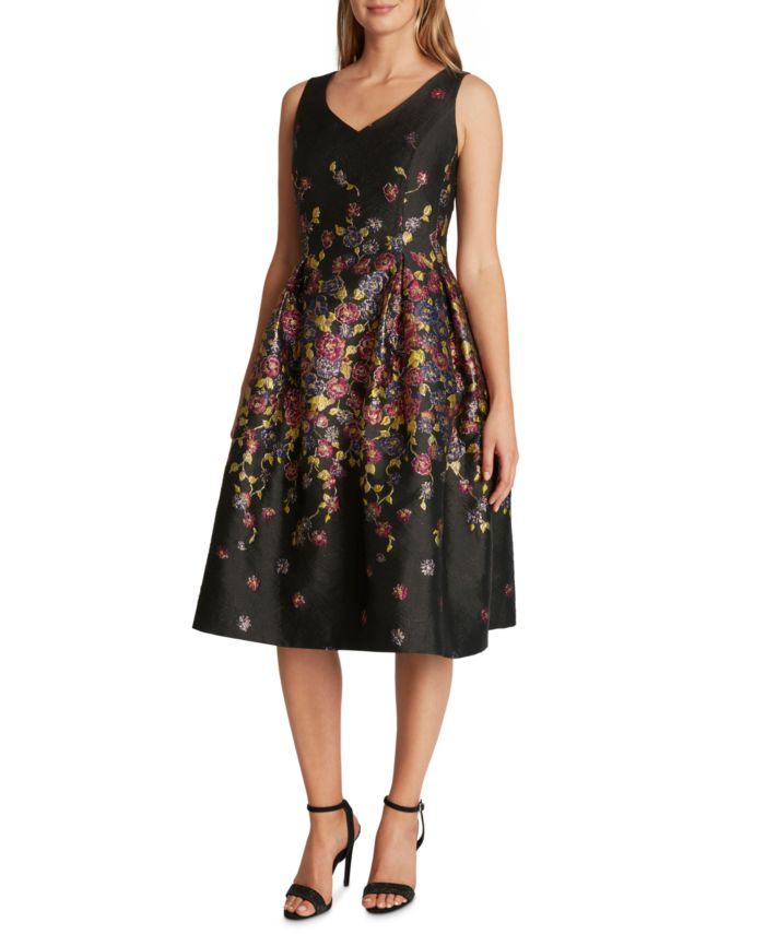 Tahari ASL Printed Jacquard Fit & Flare Dress & Reviews - Dresses - Women - Macy's