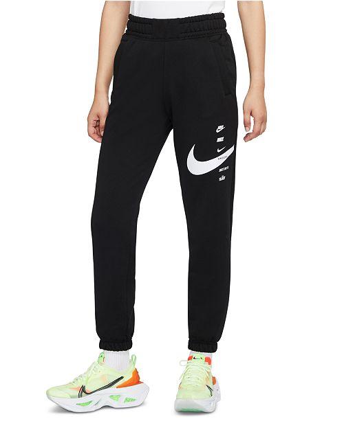 Nike Women's Sportswear Swoosh Fleece Sweat Pants ...