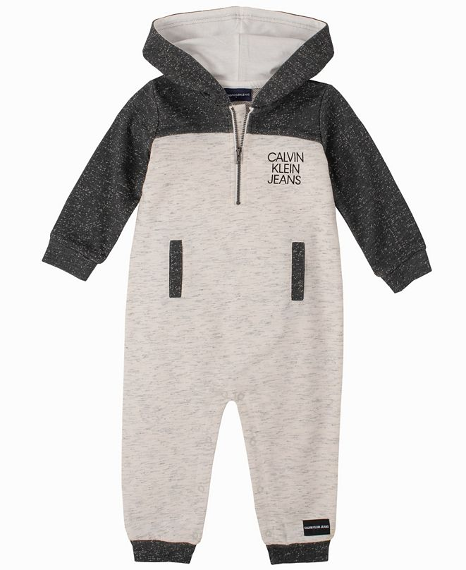 Calvin Klein Baby Boys Hooded Coverall