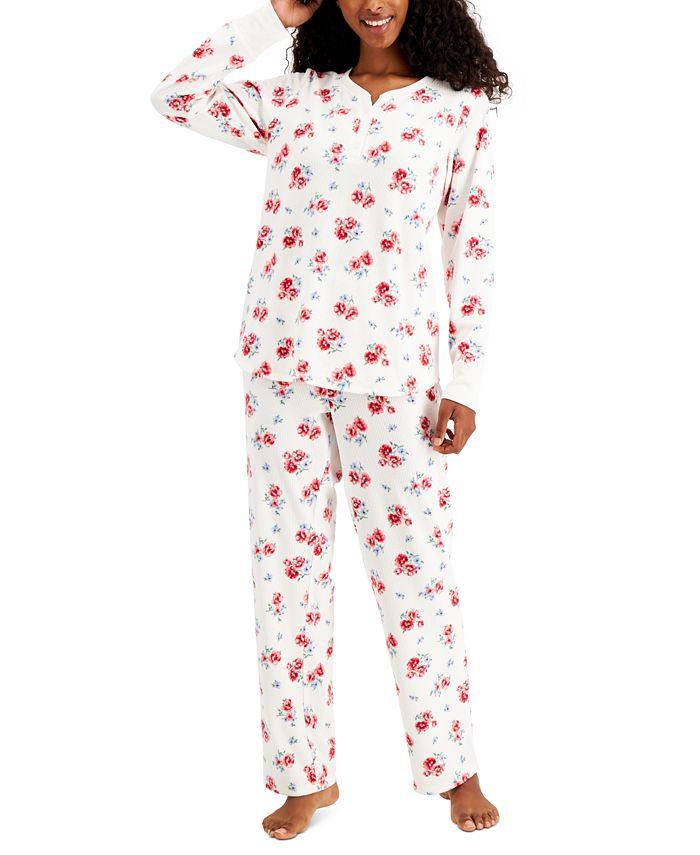 Charter Club - Thermal Fleece Printed Pajamas Set