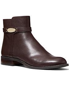 MICHAEL Michael Kors Finley Flat Leather Booties
