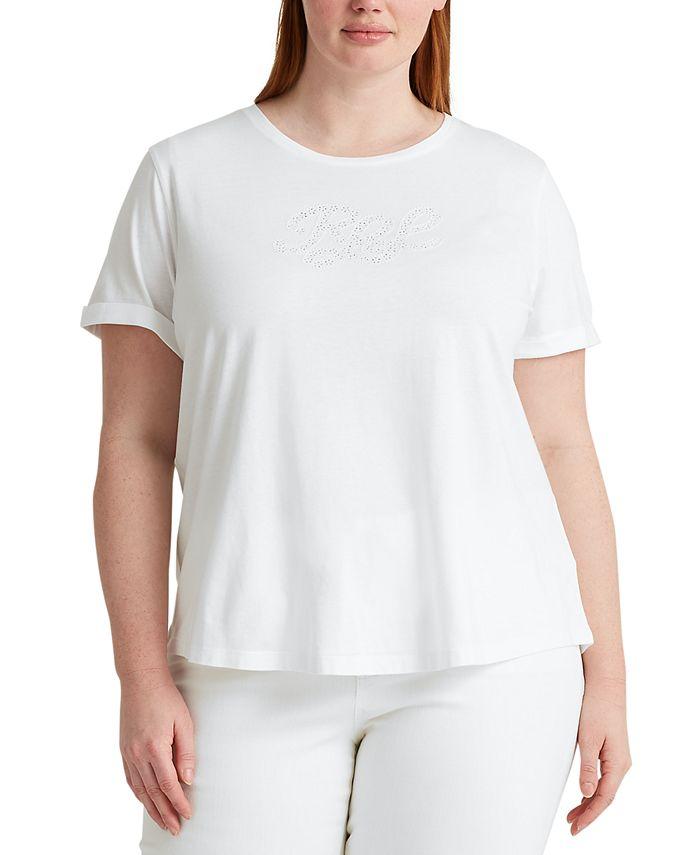 Lauren Ralph Lauren - Plus Size Signature Logo T-Shirt