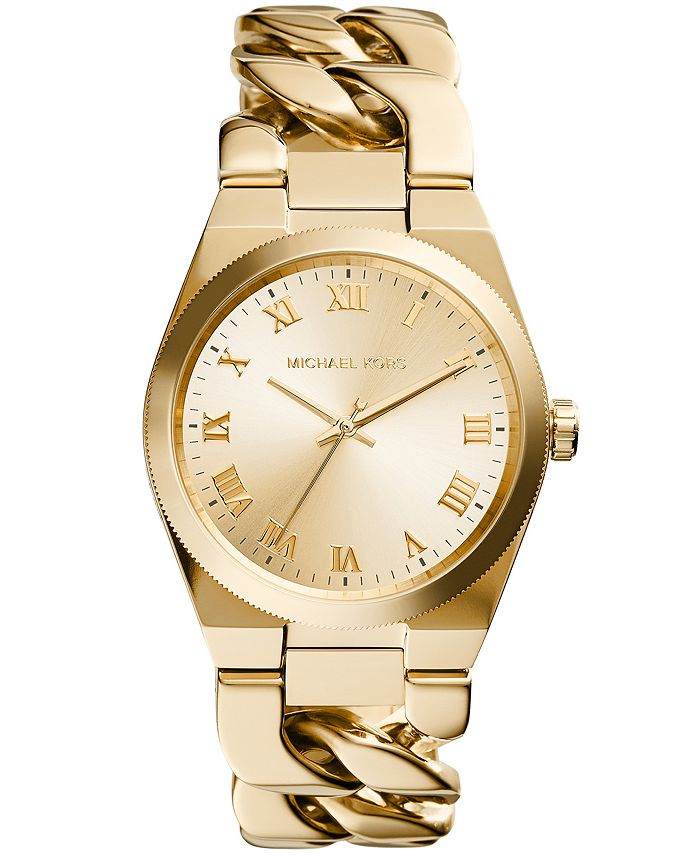 Michael Kors - Women's Channing Gold-Tone Stainless Steel Bracelet Watch 38mm MK4563