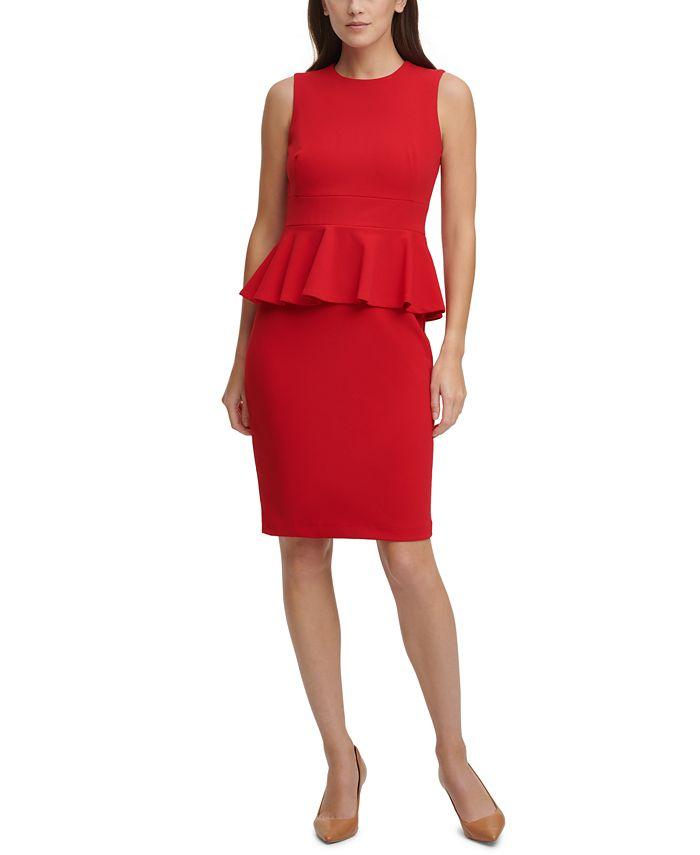 Calvin Klein - Peplum Sheath Dress