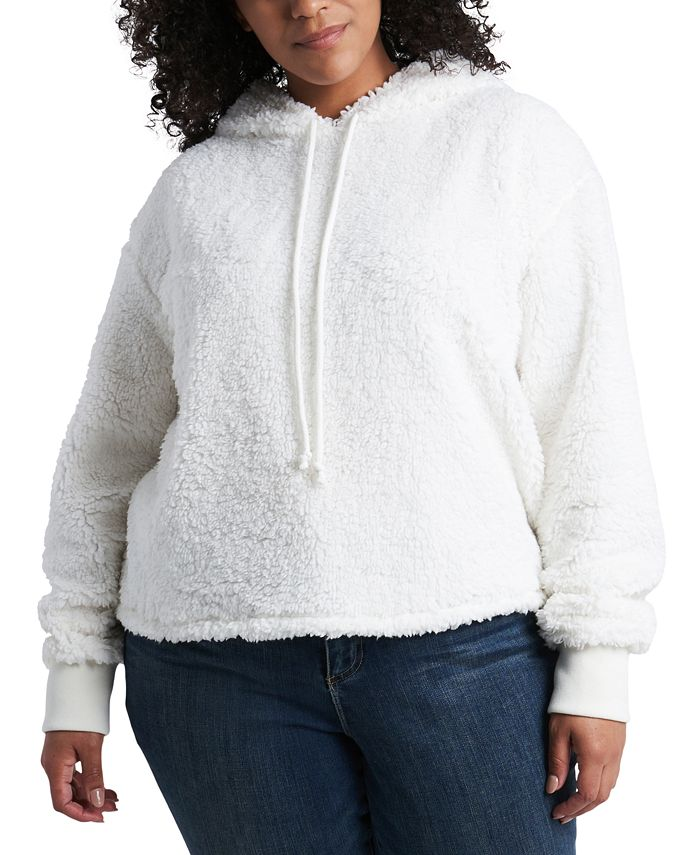 1.STATE - Plus Size Teddy Hoodie
