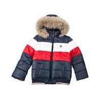 Tommy Hilfiger Little Girls Colorblock Puffer Jacket