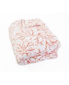 "Tonga Coral Printed Loft Fleece Decorative Throw, 70"" x 50"""