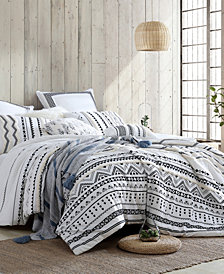 Stylish Amis Tufted Chenille 5 Piece Comforter Set, Full/Queen