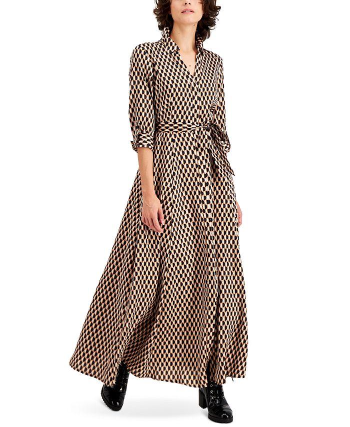 INC International Concepts INC Petite Printed Maxi Shirtdress ...