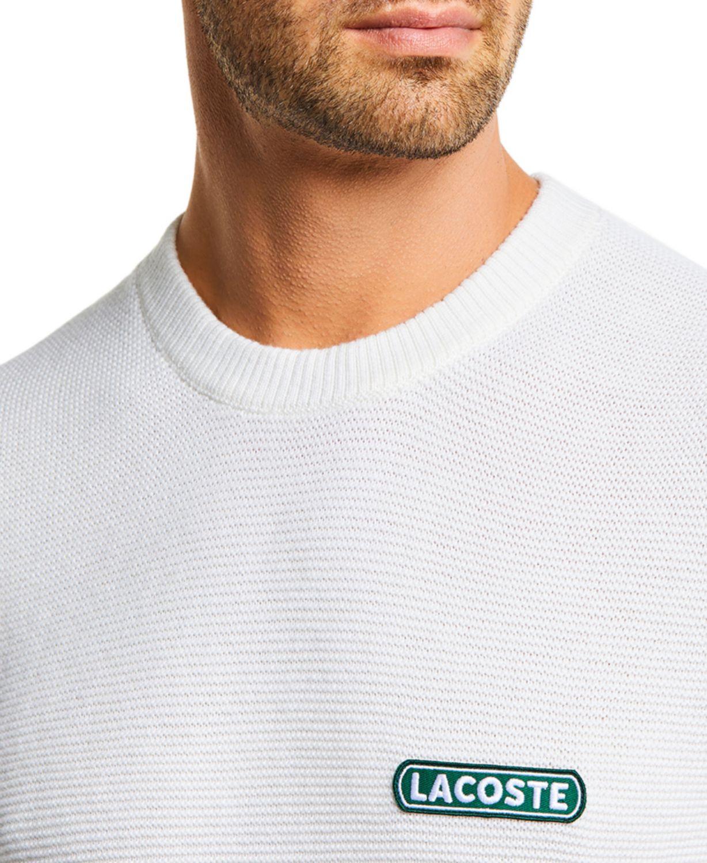 Lacoste Men's Classic Fit Crew Neck Sweater & Reviews - Sweaters - Men - Macy's