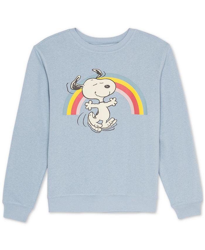 Peanuts - Juniors Graphic Print Snoopy Sweatshirt
