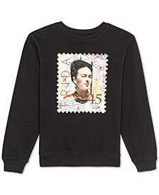 Love Tribe Juniors Frida Kahlo Graphic Print Sweatshirt