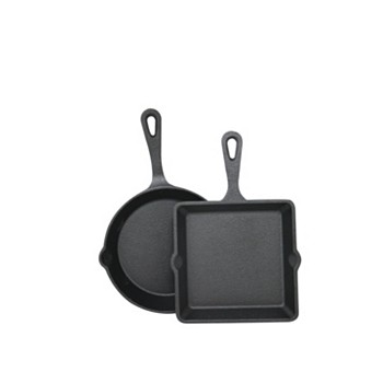 2-Piece Sedona Cast Iron Mini Skillet & Griddle Set