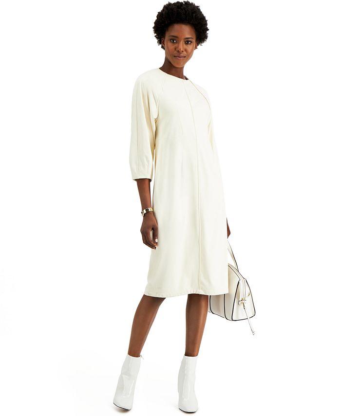 Alfani - Seamed Fit & Flare Midi Dress