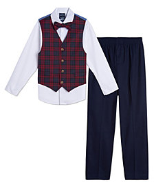 Nautica Baby Boys Plaid Vest Set