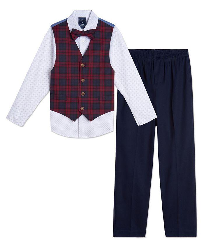 Nautica - Baby Boys Plaid Vest Set