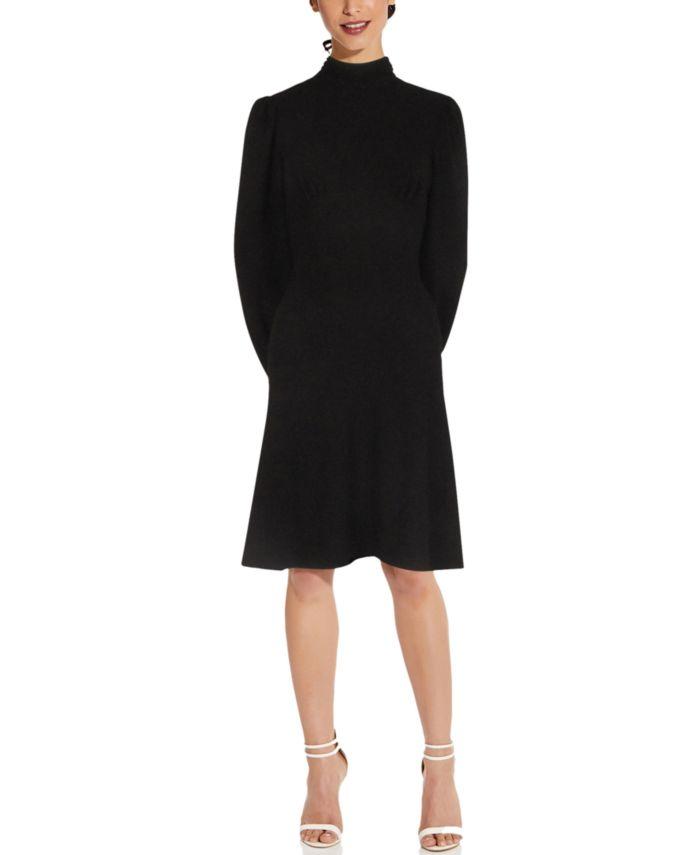 Adrianna Papell Mock-Neck A-Line Dress & Reviews - Dresses - Women - Macy's