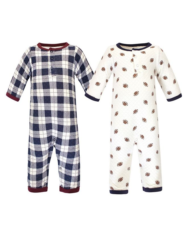 Hudson Baby Baby Boys 2 Piece Premium Quilted Coveralls