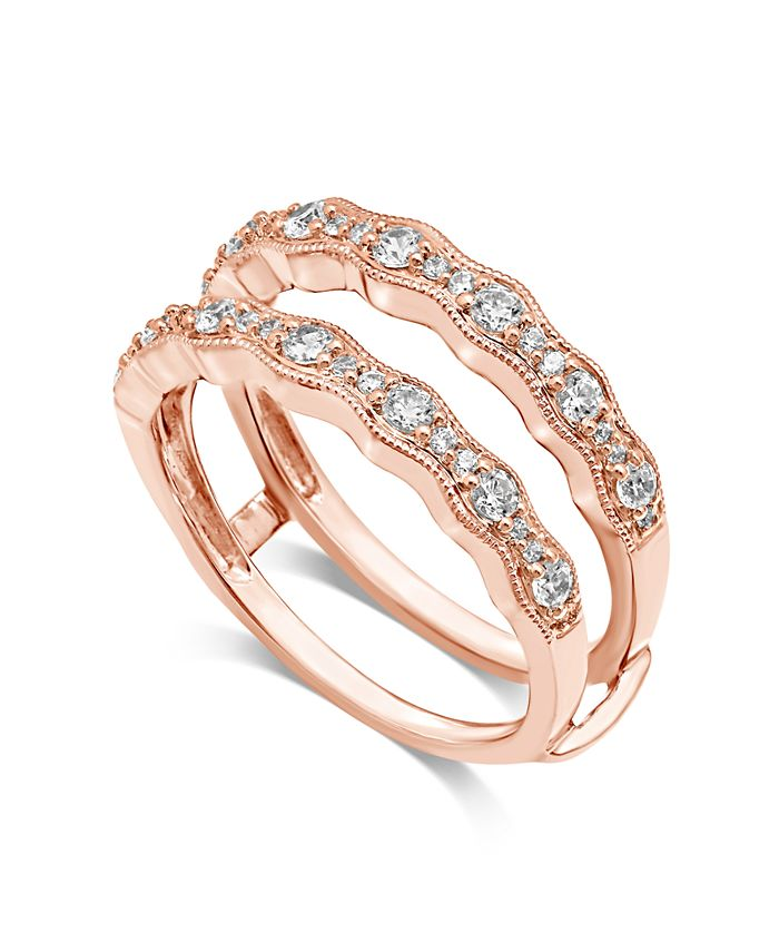 Macy S Diamond Enhancer Ring Guard 1 2 Ct T W In 14k Rose Gold Reviews Rings Jewelry Watches Macy S