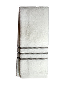 """Charter Club Egyptian Cotton Cableweave 16"""" x 30"""" Hand Towel, Created for Macy's"""