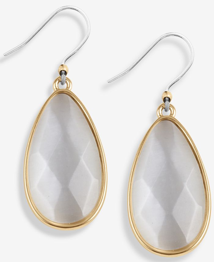 Lucky Brand - Gold-Tone Crystal Drop Earrings