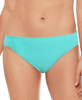 Juniors' Crinkle Texture Hipster Bikini Bottoms, Created for Macy's