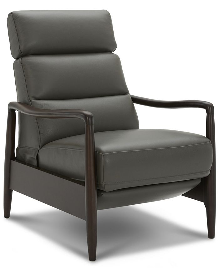 Furniture - Jazlo Leather Push Back Recliner