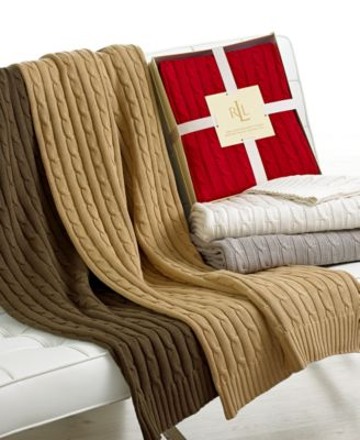 Lauren Ralph Lauren Cable Knit Throw
