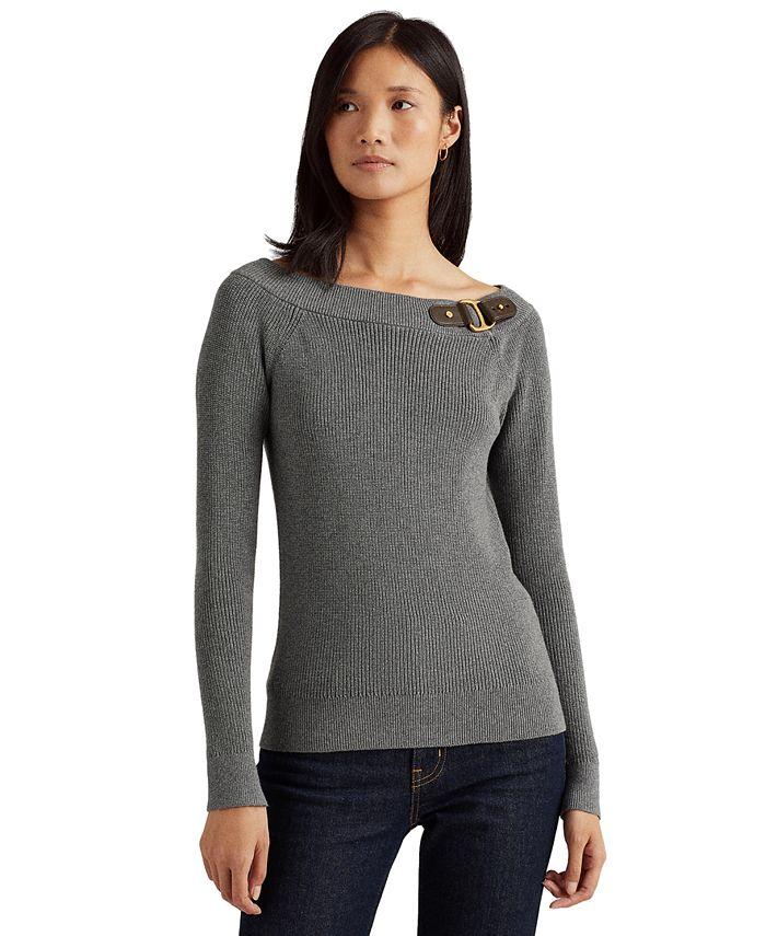 Lauren Ralph Lauren - Cotton Ballet-Neck Sweater