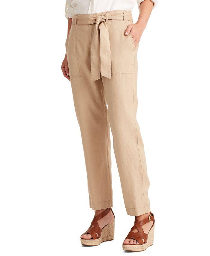 Lauren Ralph Lauren - Linen High-Rise Pants