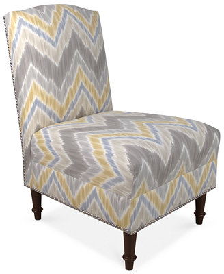 Barstow Tribal Finds Fabric Accent Chair, Direct Ship - Furniture