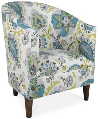 Barstow Blue Diamonds Fabric Accent Chair, Direct Ship - Furniture