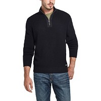 Weatherproof Vintage Men's Waffle Texture 1/4 Zip Sweater Deals